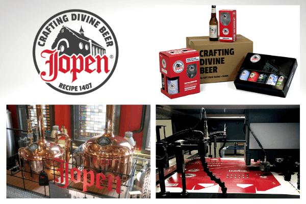 Het verpakken van glaswerk voor Jopen Bier