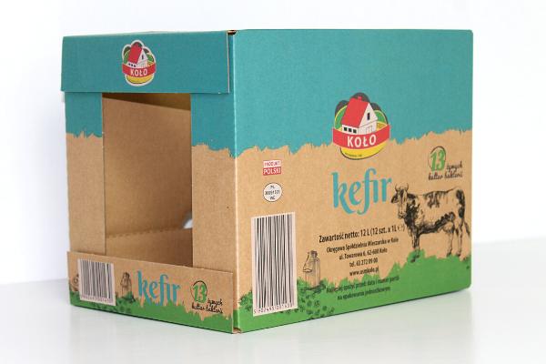 offset print op bruin karton bedrukte dozen met silaliner