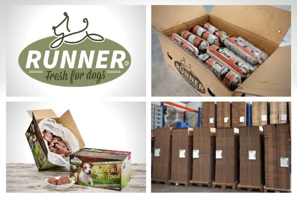 Het verpakken van diepvries hondenvoeding van Runner